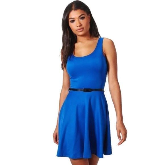 f37e47dff Boohoo Dresses   Blue Skater Dress Size 6 Small Nwt Mini   Poshmark